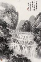 山瀑图 立轴 水墨纸本 - 139987 - 中国书画 瓷器工艺品 - 2007迎新艺术品拍卖会 -收藏网