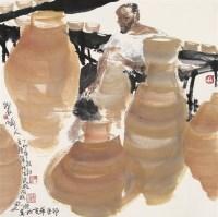 制陶人 镜心 设色纸本 - 王明明 - 中国当代水墨 - 2006秋季拍卖会 -收藏网