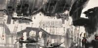 江南喜雨图 镜心 设色纸本 - 徐 希 - 中国书画 - 抱趣堂景安2008迎春拍卖会 -收藏网