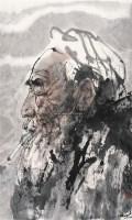 老农 镜片 设色纸本 - 梁岩 - 中国书画 - 2011年迎春拍卖会 -收藏网
