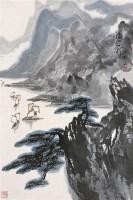 清江帆影 立轴 设色纸本 - 张登堂 - 中国书画 - 2005年艺术品拍卖会 -收藏网
