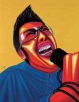摇滚狂潮—月亮代表谁的心 布面  油画 - 罗丹 - 油画 版画 - 2006秋季艺术品拍卖会 -收藏网