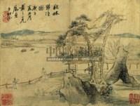 QIAN DU 1763-1844 VARIOUS SUBJECTS album of eight leaves -  - 中国书画 - 2007年秋季拍卖会 -收藏网