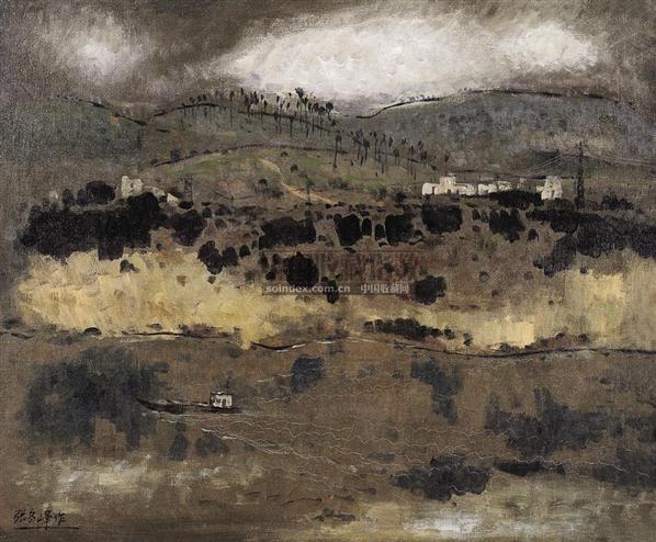 山雨 布面油画 - 126980 - 中国油画 - 2006夏季艺术品拍卖会 -收藏网