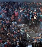 集市 布面  油画 -  - 油画 版画 - 2006秋季艺术品拍卖会 -收藏网