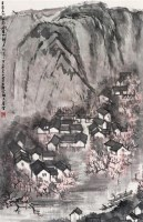 杏花春雨 镜心 设色纸本 - 李可染 - 中国书画(一) - 2006年春季拍卖会 -中国收藏网