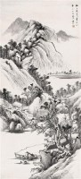山水 立轴 水墨纸本 - 13356 - 中国书画(二) - 2009春季大型艺术品拍卖会 -收藏网