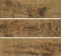 山庄春晓图 手卷 绢本 - 文徵明 - 中国书画(十) - 嘉德四季第二十六期拍卖会 -中国收藏网