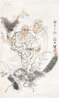 人物 框 设色纸本 - 150028 - 中国书画(二) - 2011秋季艺术品拍卖会 -中国收藏网