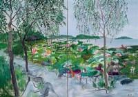 曲苑风荷 布面油彩 - 赵开坤 - 中国油画及雕塑 - 2006年春季拍卖会 -收藏网