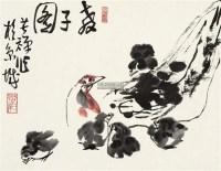 教子图 镜片 水墨绢本 - 139807 - 近现代中国书画 - 2011秋季艺术品拍卖会 -收藏网