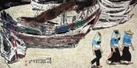 金兰姐妹 镜心 设色纸本 - 韦江琼 - 中国油画 闽籍书画 中国书画 - 2008秋季艺术品拍卖会 -中国收藏网