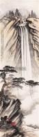 山水人物 立轴 纸本 - 122935 - 文物商店友情提供 - 庆二周年秋季拍卖会 -收藏网