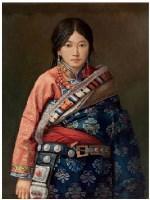 藏女 布面 油画 - 马健 - 中国油画 - 2007春季艺术品拍卖会 -收藏网