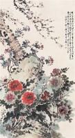 符铸 己巳(1929年作) 玉堂富贵 立轴 设色纸本 - 符铸 - 中国书画紫砂茗壶 - 2006年秋季拍卖会 -收藏网