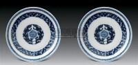 清乾隆青花饕餮纹盆(一对) -  - 中国古代工艺美术 - 2007年仲夏拍卖会 -收藏网