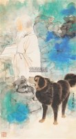 人物 立轴 纸本 - 张大千 - 中国书画(一) - 庆二周年秋季拍卖会 -中国收藏网