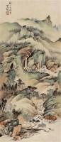 春水人家 镜框 设色纸本 - 萧愻 - 中国书画 - 2011秋季拍卖会 -收藏网