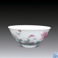 """粉彩牡丹纹碗 -  - 文玩艺品 - 2011""""清花岁月""""跨年拍卖会 -收藏网"""