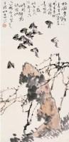 麻雀 立轴 设色纸本 - 周之林 - 中国书画 - 四季拍卖会(第58期) -收藏网
