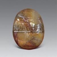 旧田黄芙蓉石巧雕山水人物挂件 -  - 艺术品 - 2011年春季拍卖会(329期) -收藏网
