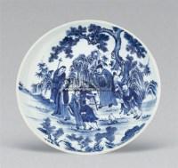 青花八仙人物盘 -  - 梁溪雅玩 - 2011年夏季拍卖会 -中国收藏网