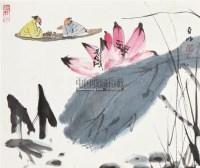 荷间谈笑 镜片 设色纸本 - 2538 - 中国书画二 - 2011春季艺术品拍卖会 -收藏网