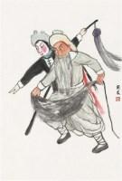 戏曲人物 立轴 设色纸本 - 139880 - 中国书画一 - 2011秋季艺术品拍卖会 -中国收藏网