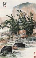 朱屺瞻  水仙 立轴 - 116782 - 《四妙堂》藏中国近现代书画 - 2007年秋季艺术品拍卖会 -收藏网