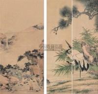 松鹤图 立轴 设色纸本 -  - 海上旧梦(四) - 2010年春季艺术品拍卖会 -中国收藏网