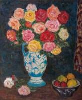 玫瑰花 油彩 画布 -  - 现代与当代艺术 - 2011台北秋季拍卖会 -中国收藏网