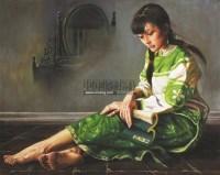 镜花缘 布面油画 -  - 油画之光—油画专场 - 北京康泰首届艺术品拍卖会 -收藏网