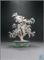 錾胎画珐琅透明料盆景 -  - 中国瓷器 玉器及杂项 - 2007年秋季大型艺术品拍卖会 -收藏网