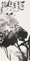 荷花 立轴 水墨纸本 - 张立辰 - 中国书画(二) - 2006年秋季拍卖会 -收藏网