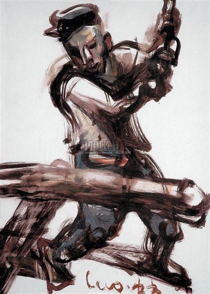 创造者 纸板  油画 - 119145 - 油画 版画 - 2006秋季艺术品拍卖会 -收藏网