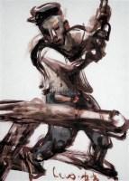 创造者 纸板  油画 - 罗中立 - 油画 版画 - 2006秋季艺术品拍卖会 -收藏网