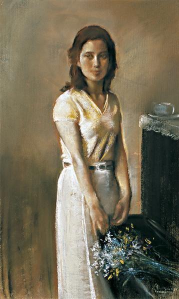 人物 纸本 色粉-夏葆元-中国油画雕塑-2007秋季艺术品