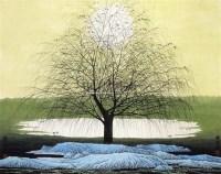 静夜图 立轴 纸本 - 薛 亮 - 大众典藏 - 2011年第六期大众典藏拍卖会 -收藏网