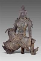 铜观音坐像 -  - 艺术珍玩 - 十周年庆典拍卖会 -中国收藏网