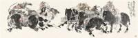唐人狩猎 镜片 设色纸本 - 130887 - 中国书画一 - 2011秋季书画专场拍卖会 -收藏网