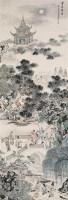 金莲归院 立轴 纸本设色 - 141055 - 中国书画 - 2006春季拍卖会 -中国收藏网