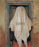 背影 布面 油画 - 刘野 - 中国油画雕塑 - 2006秋季艺术品拍卖会 -收藏网