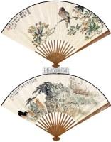 山水 花鸟 成扇 纸本 -  - 中国书画(一)名家扇面及小品专场 - 2011年首届春季大型艺术品拍卖会 -收藏网