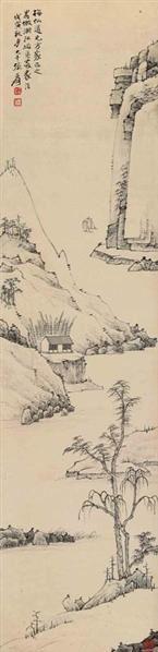 张大千 拟渐江山水 - 116070 - 中国书画(一)(二) - 华伦伟业 08迎新春书画拍卖会 -收藏网