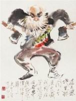 戏曲人物 镜心 设色纸本 -  - 中国书画专场 - 2008第三季艺术品拍卖会 -收藏网