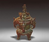 绿釉象耳盘龙香熏 -  - 瓷器 - 2011中博香港大型艺术品拍卖会 -收藏网