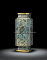 AN IMPORTANT AND RARE CLOISONNE ENAMEL 'DRAGON' VASE -  - Yuan Ming Yuan, The Garden of Absolute Clarity - 2007年秋季拍卖会 -收藏网