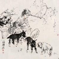 刘国辉(b.1940)牧羊图 - 刘国辉 - 中国书画(三)—荣宝斋杂志社提名画家专场 - 2006年春季大型艺术品拍卖会 -收藏网