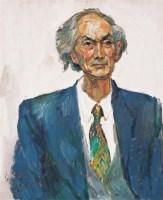 罗尔纯 系领带的老人 - 罗尔纯 - 中国油画 - 四季拍卖会(第56期) -收藏网