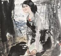 人物 立轴 纸本 - 10469 - 保真作品专题 - 2011春季书画拍卖会 -收藏网